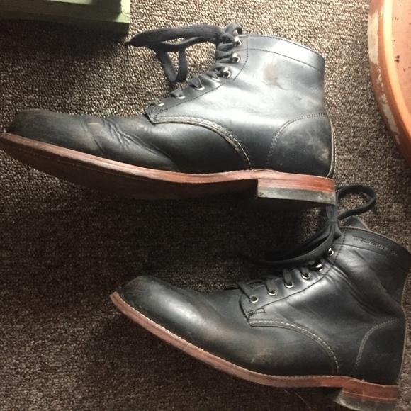 a22616e63b4 Wolverine 1000 mile boot men's black 8.5